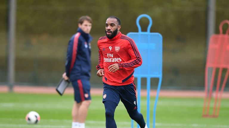 Arsenal striker Alexandre Lacazette has returned to full training
