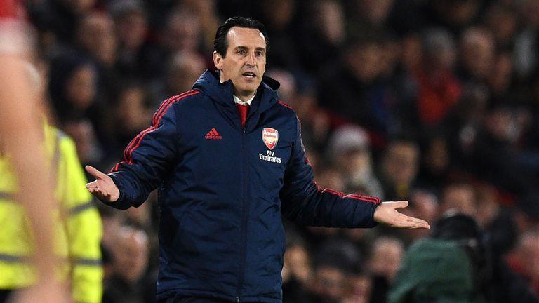 Unai Emery is facing mounting pressure at Arsenal