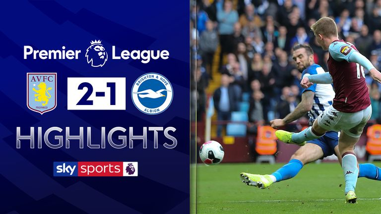 FREE TO WATCH: Highlights from Aston Villa's win against Brighton