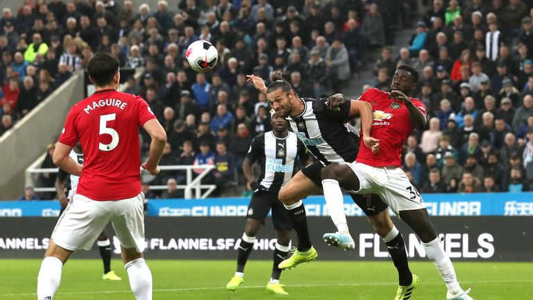 Axel Tuanzebe featured at centre-back alongside Harry Maguire at Newcastle