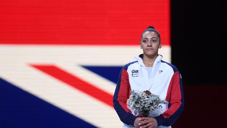 Becky Downie won silver in Stuttgart