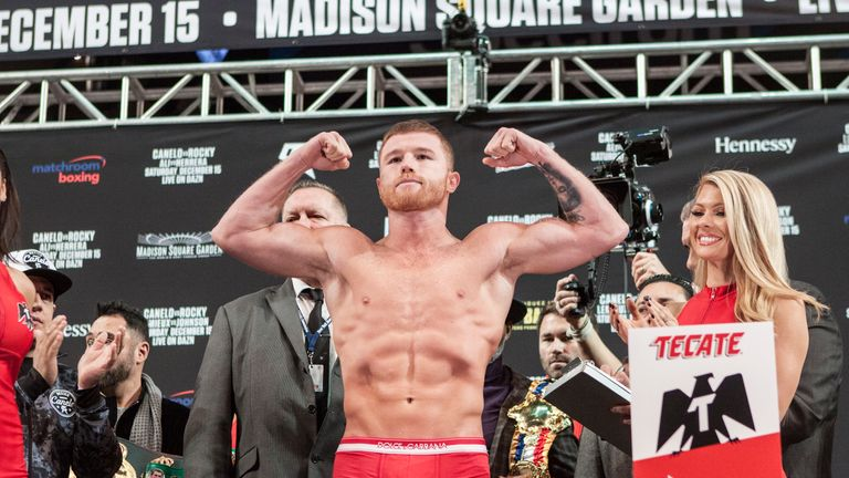 Canelo at 168lbs (his heaviest ever)