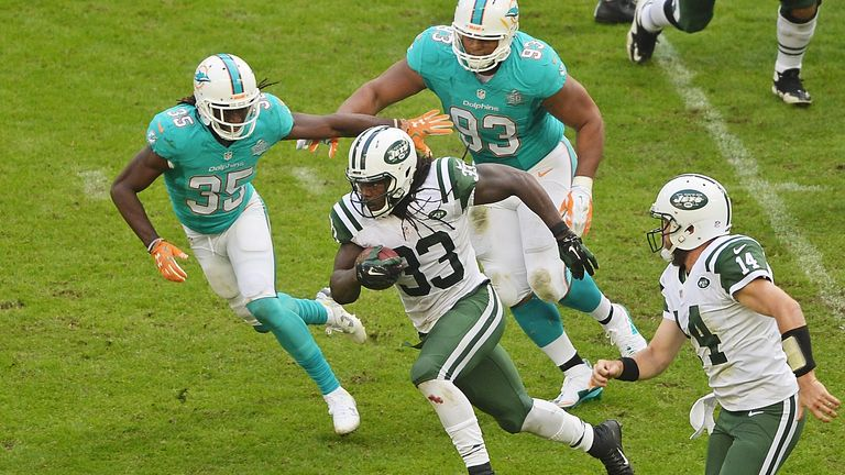 Chris Ivory had a career day for the Jets with 166 yards