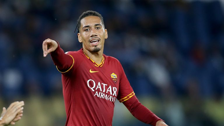 Chris Smalling is currently on loan at Roma from Manchester United.