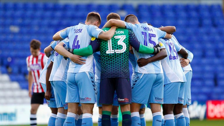 Coventry are currently fifth in League One