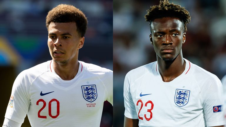 Tottenham's Dele Alli has been left out of the England squad, while Chelsea's Tammy Abraham has been included