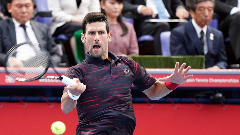 The Serbian will feature in next week's Shanghai Masters