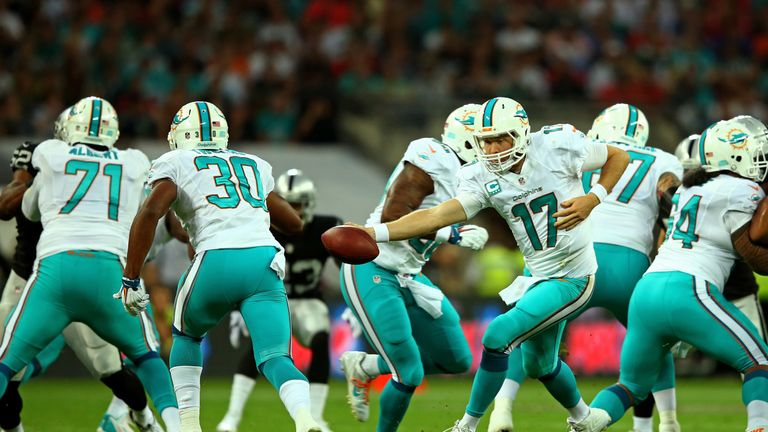 Ryan Tannehill threw two TDs in a Miami win