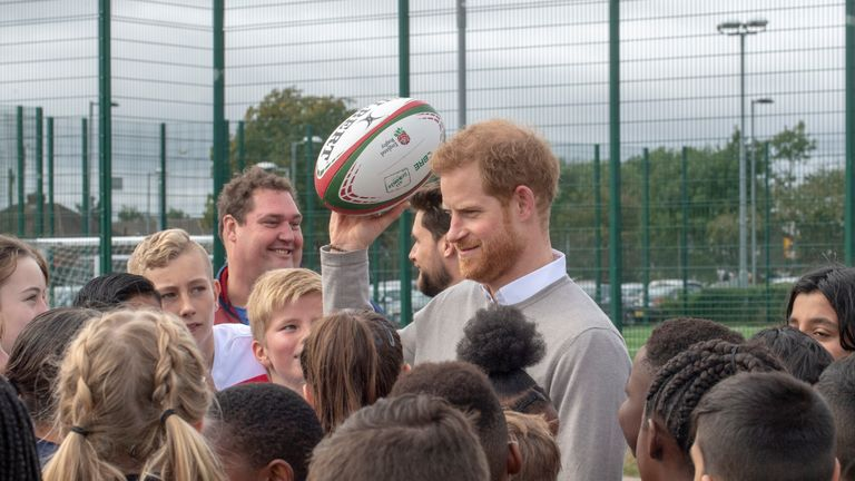 Prince Harry is a patron of the Rugby Football League