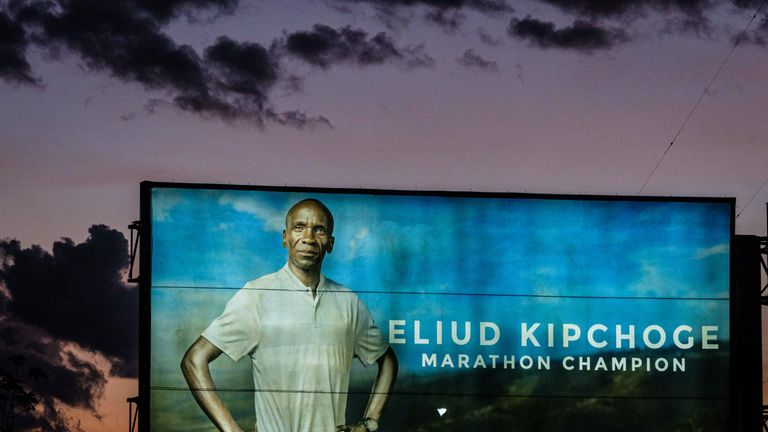Kipchoge is the current holder of the Marathon world record