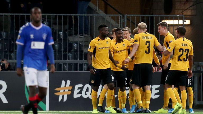 Young Boys celebrate Roger Assale's equaliser