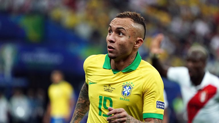 Everton Soares impressed for Brazil at the Copa America in the summer
