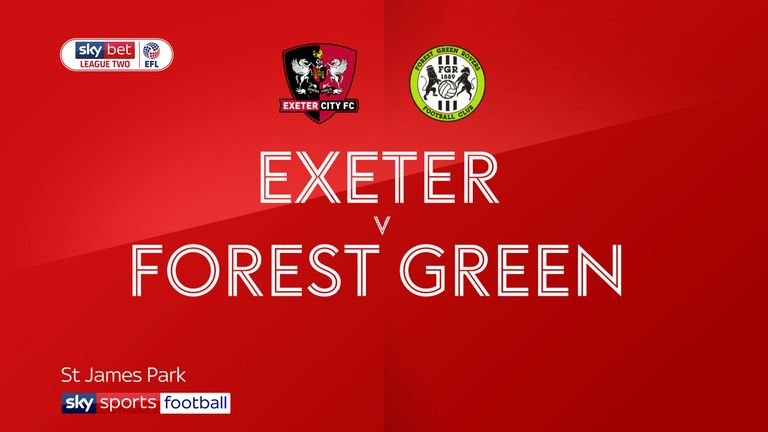 Exeter 1-0 Forest Green: Ryan Bowman keeps Grecians in touch with League Two summit