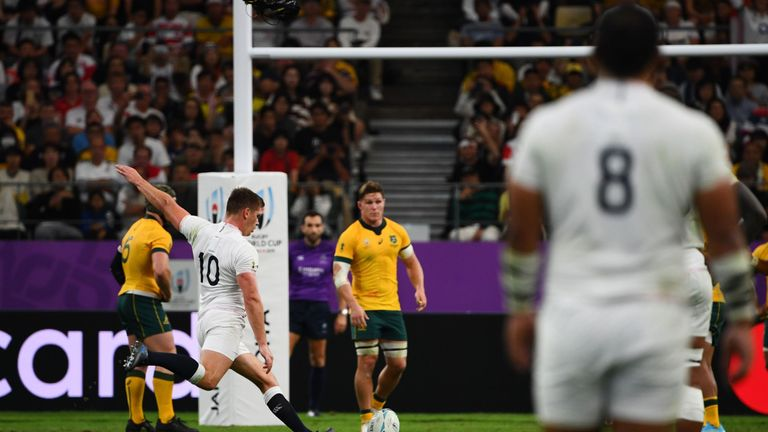 Owen Farrell was 100 per cent accurate off the kicking tee, dispatching four penalties and four conversions