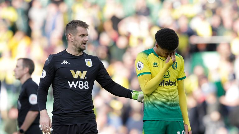 Jamal Lewis played the full 90 minutes of Norwich's 5-1 Premier League defeat to Aston Villa