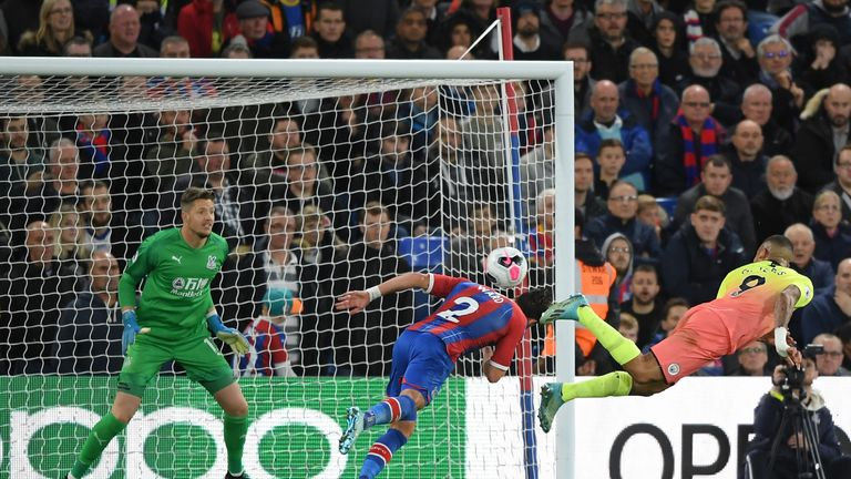 Gabriel Jesus headed home Crystal Palace's opener