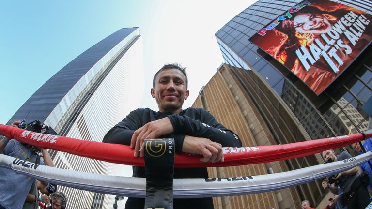 Golovkin fights at New York's Madison Square Garden this weekend
