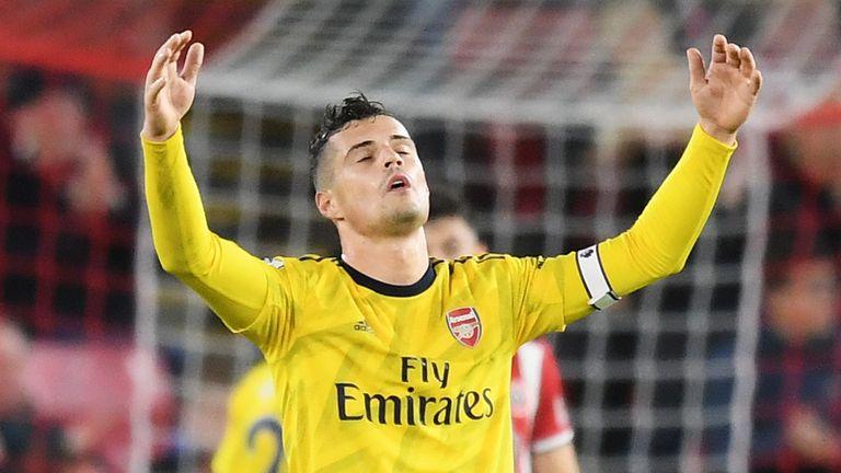 Arsenal critics 'speak a lot of bulls***', says Granit Xhaka