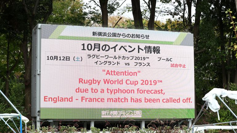 Typhoon Hagibis caused the cancellation of three Rugby World Cup 2019 Tests - an unprecedented situation