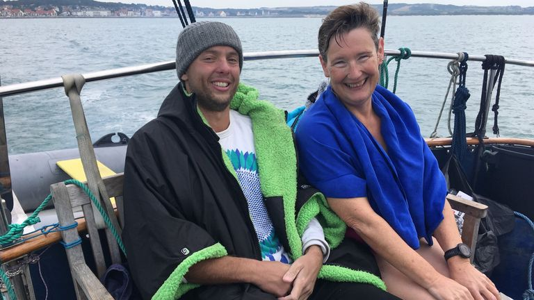 The companionship Hunter and Vicki quickly found would prove crucial on each of their Channel swims