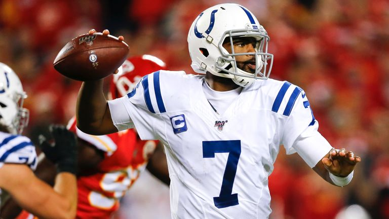 Jacoby Brissett scored the only touchdown of the game on the ground, while throwing for 151 yards
