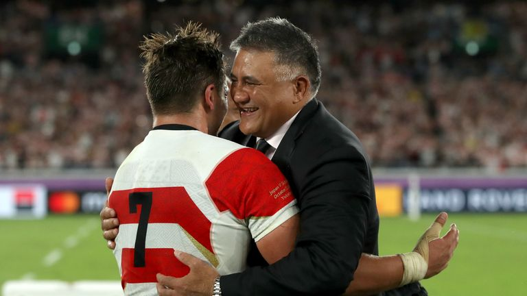 Jamie Joseph paid his respects to victims of Typhoon Hagibis, adding that the circumstances of the match motivated Japan to beat Scotland to progress to the last eight of the Rugby World Cup.