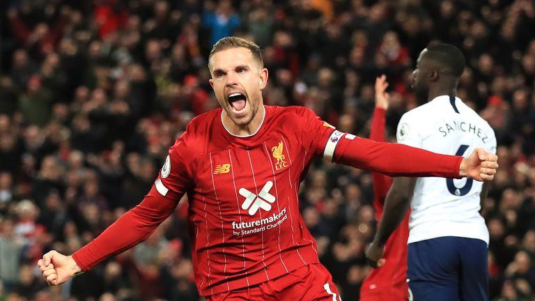 Jordan Henderson will be missed in midfield by Liverpool