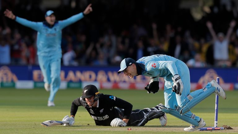 Buttler ran out Martin Guptill off the final ball of the super over to give England victory in July's World Cup final