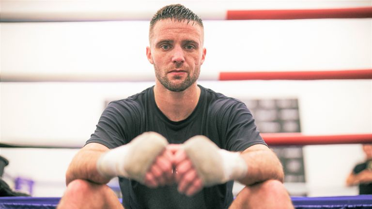 Unified champion Josh Taylor has traded punches in sparring with Ennis-Brown