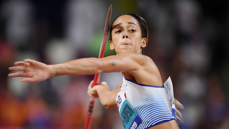 Johnson-Thompson set another personal best in the javelin