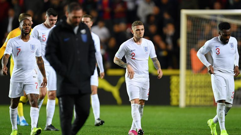 Kieran Trippier featured during England's games over the international break against Czech Republic and Bulgaria