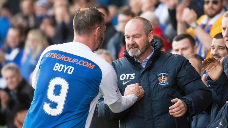 Boyd worked with Scotland boss Steve Clarke at Kilmarnock