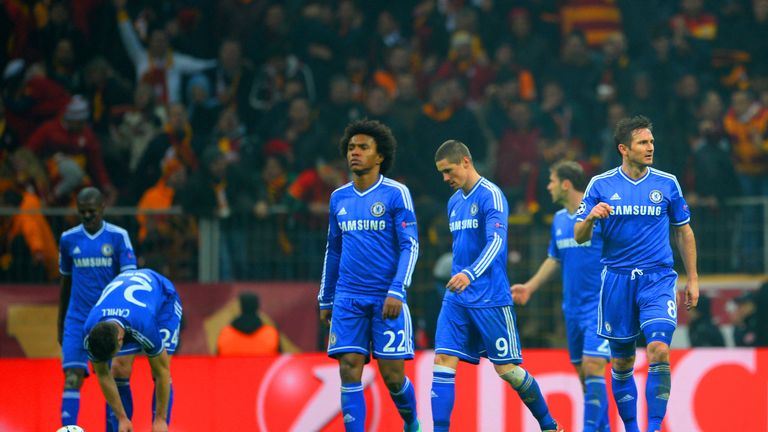 Willian and Lampard played together for one season at Stamford Bridge