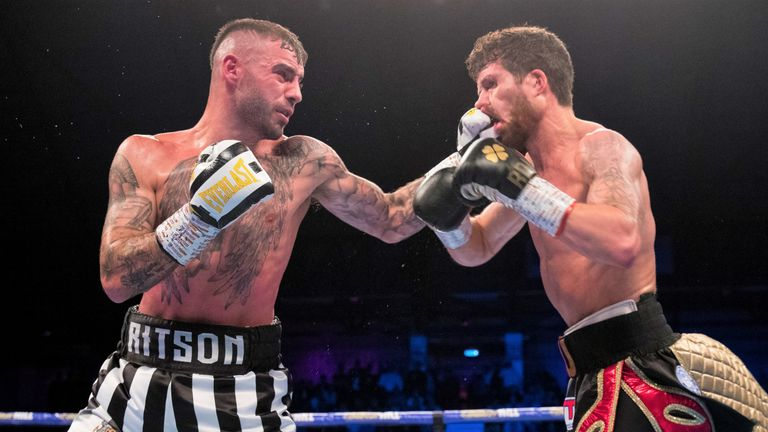 Ritson replied with powerful punches in the closing stages