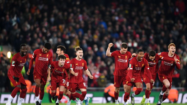 Liverpool beat Arsenal in the last round of the Carabao Cup