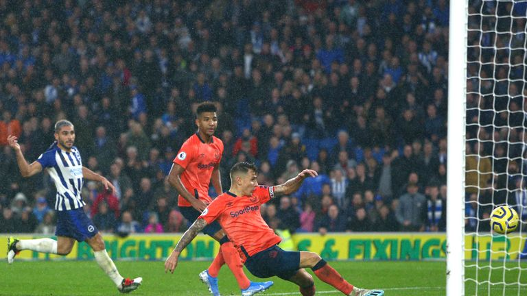 Lucas Digne scored an own goal in the final minute at the Amex