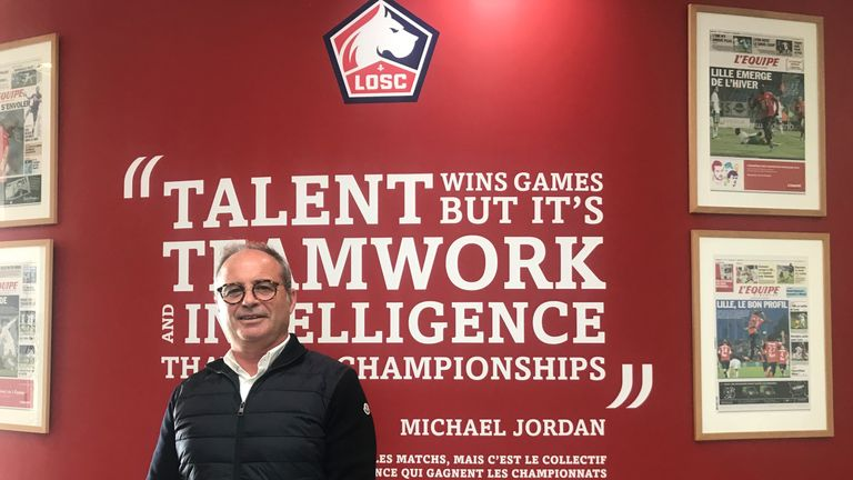 Luis Campos is sporting director at Lille