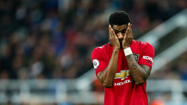 Marcus Rashford is enduring a difficult run of form but has been injured