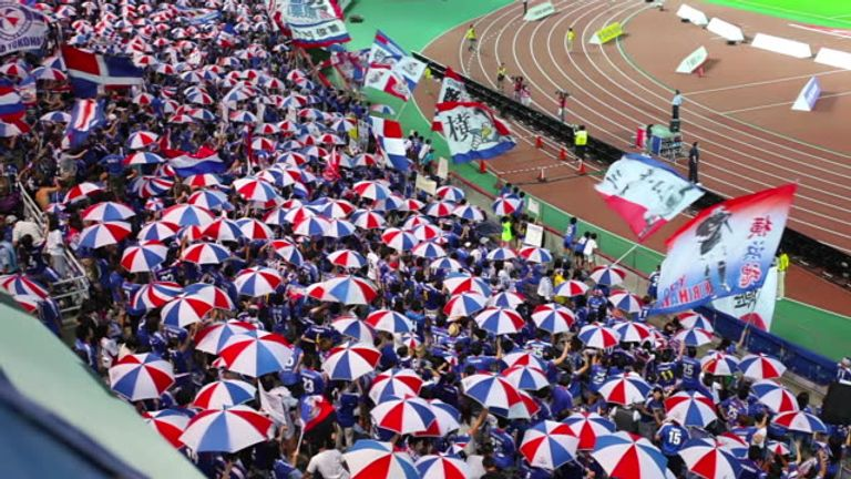 Current club Yokohama F. Marinos was constructed from two clubs in 1999 - alienating one set of supporters