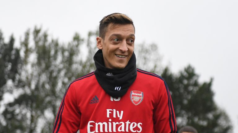 Mesut Ozil has not played for Arsenal since the previous Carabao Cup round
