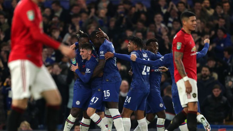 Michy Batshuayi celebrates after equalising for Chelsea