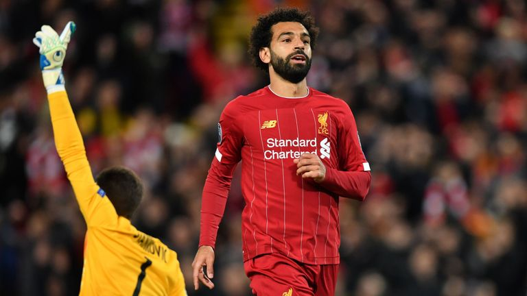 Mohamed Salah is a major doubt for the game at Crystal Palace