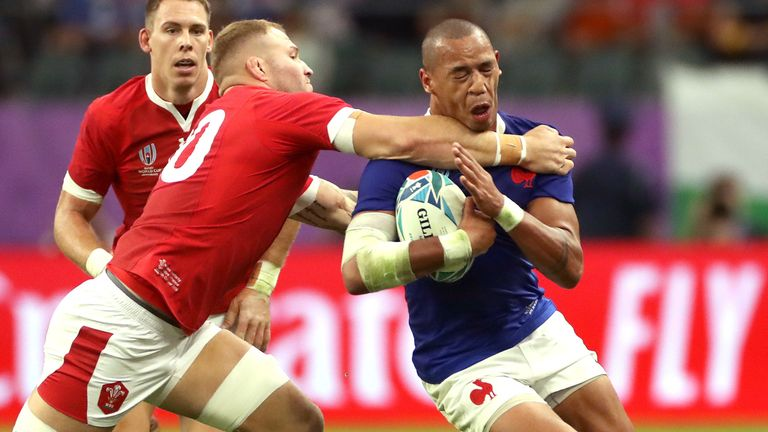 Ross Moriarty was sin-binned in the first half for a high tackle on Gael Fickou, with Wales really under pressure
