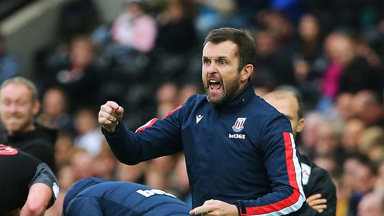 Nathan Jones saw his side win for the first time in the Championship this season