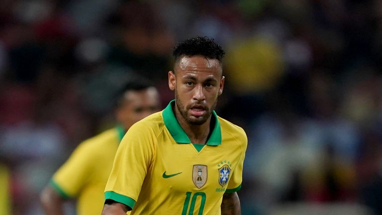 Neymar was making his 101st appearance for Brazil in Singapore