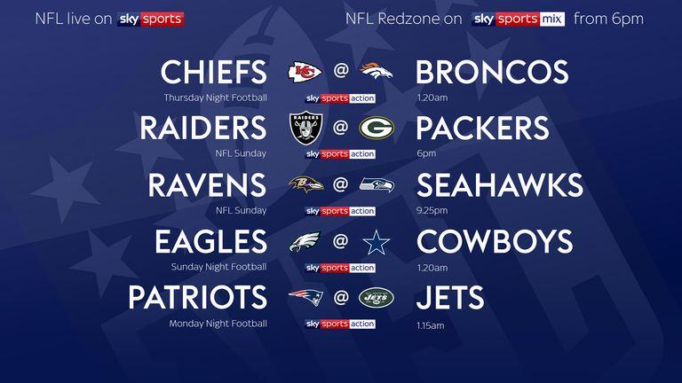 Your NFL Week Seven fixtures!