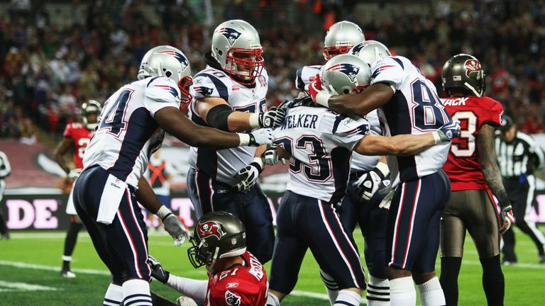 The Patriots piled on the points against the Bucs