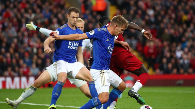 Marc Albrighton's last-minute foul on Sadio Mane gave Liverpool the match-winning penalty