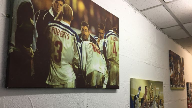 In the corridors at Tranmere's Prenton Park, which is now busier than ever