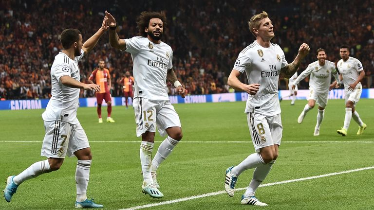 Real Madrid eased the pressure on Zinedine Zidane with a 1-0 win at Galatasaray